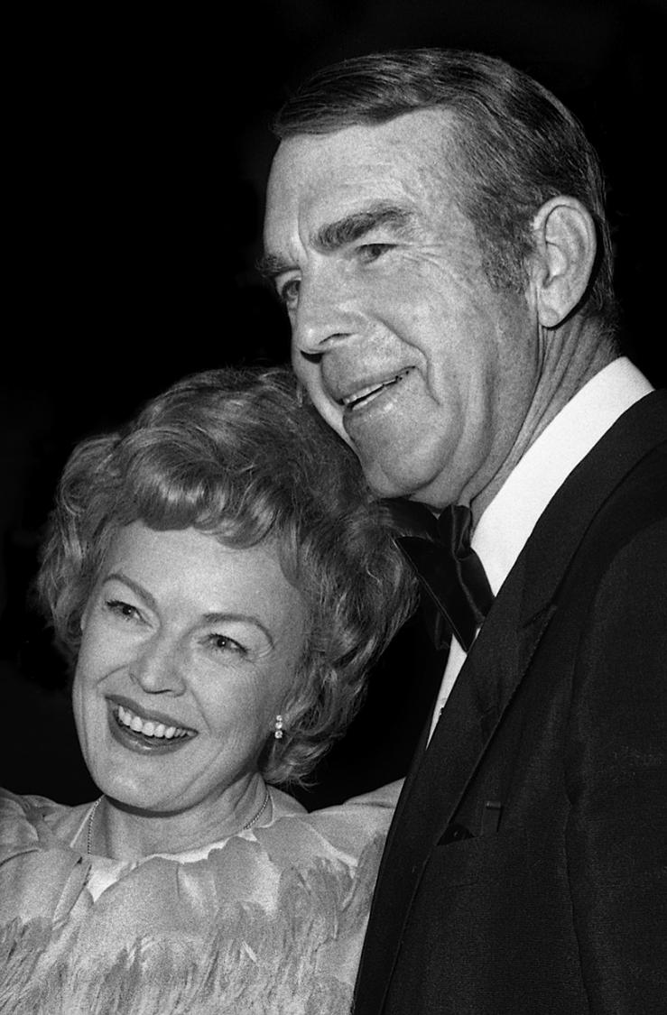 Fred MacMurray and June Haver, 1973