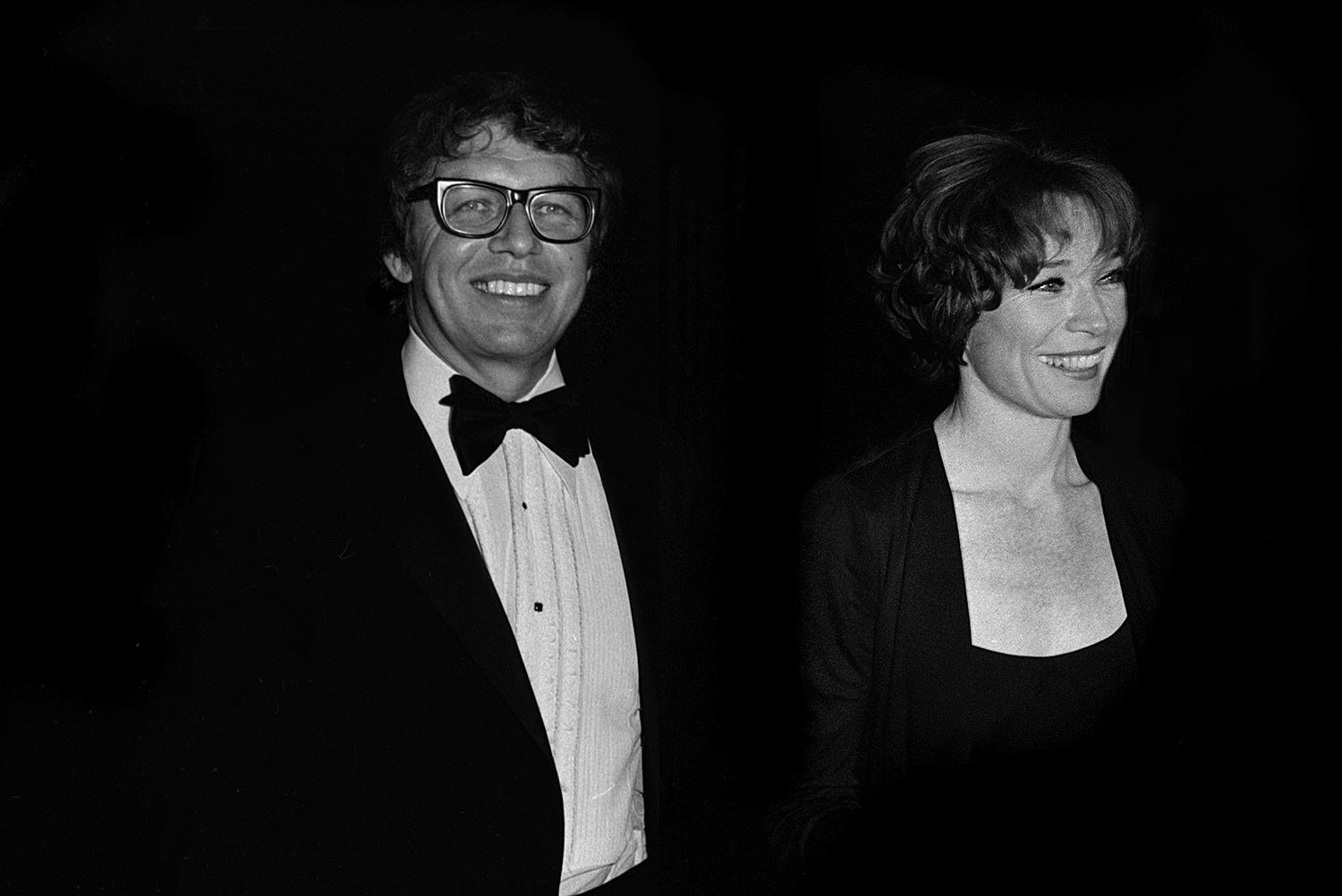 Pete Hamill and Shirley MacLaine, 1974
