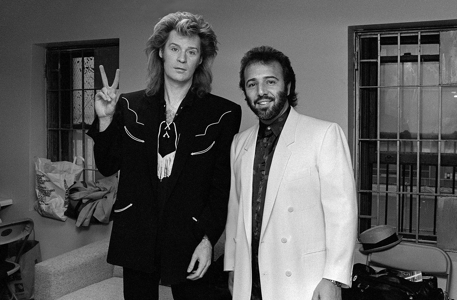 Daryll Hall with Tommy Mottola,1985