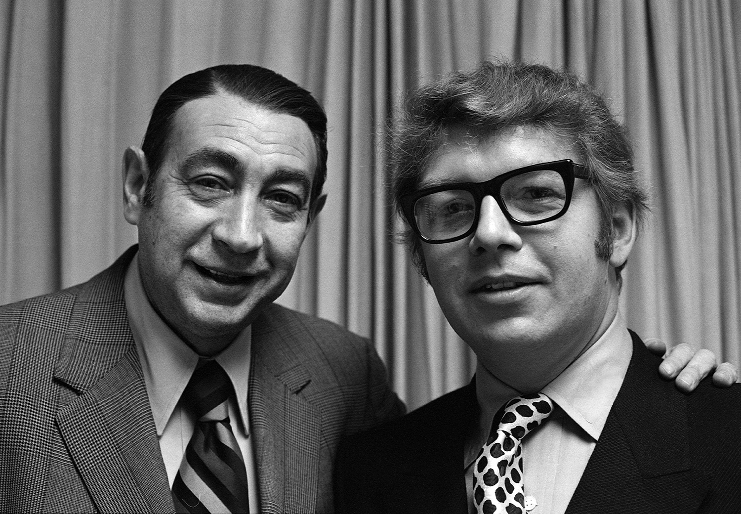Pete Hamill with Howard Cosell