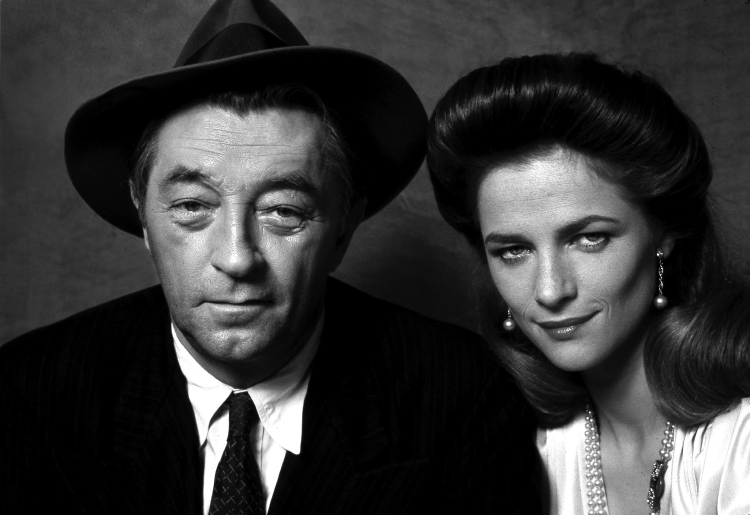 Robert Mitchum and Charlotte Rampling
