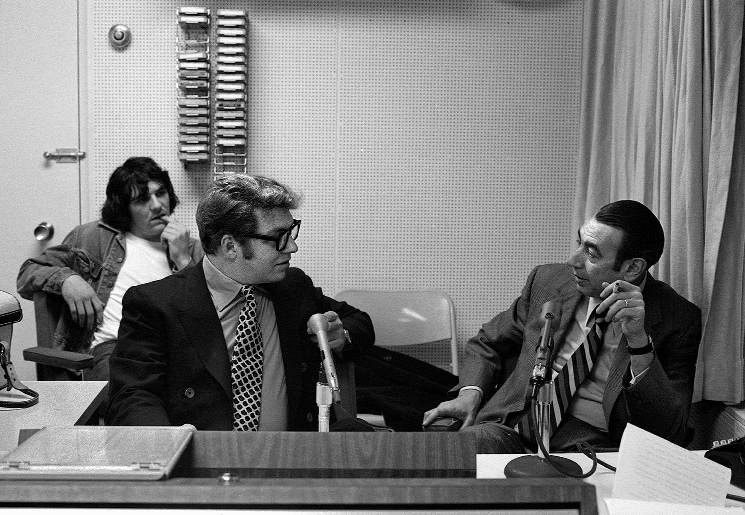 Pete and Denis Hamill with Howard Cosell #2