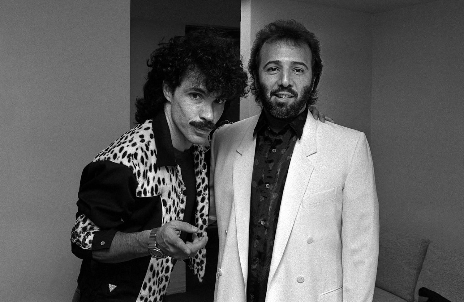 John Oates with Tommy Mottola, 1985